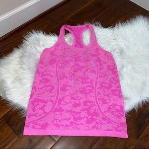 lululemon Swiftly Tech Tank Pink Camo Size 10